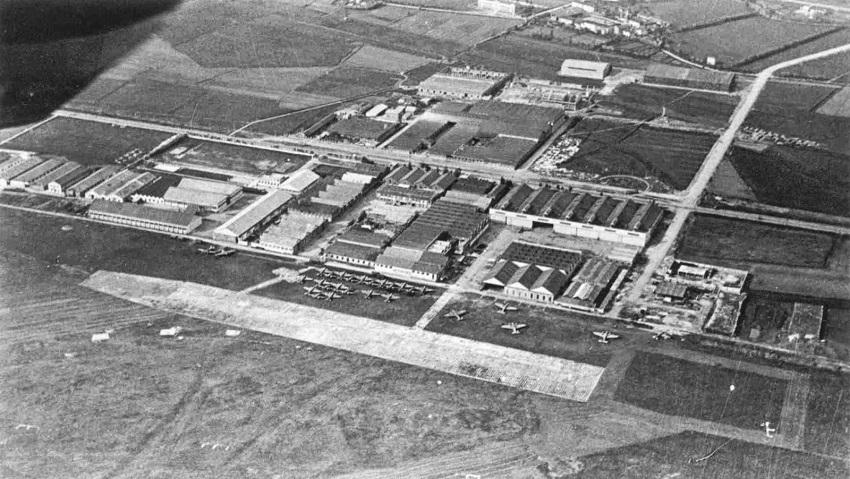 L'aeroporto Taliedo anni quaranta.