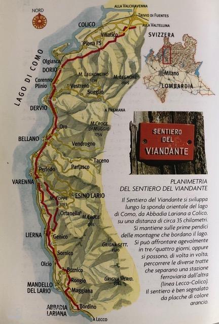 Sentiero del Viandante Mappa