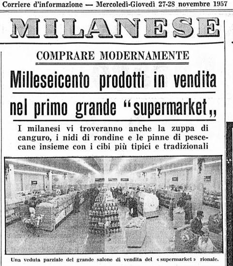 Primo supermercato Milano